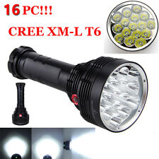 38000LM 16x XM-L T6 LED Flashlight 3 Mode Torch Light Super Lamp Waterproof Lot