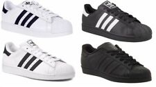 ADIDAS ORIGINALS MENS SUPERSTAR FOUNDATION TRAINERS SHELL TOP SHOES BLACK WHITE