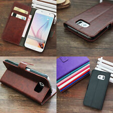 For HTC/Motorola Series Luxury Leather Phone Case Flip Card Holder Wallet Cover