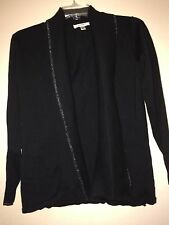 Liz Claiborne New York Open Front Cardigan Black Assorted Sizes