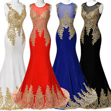 Sexy Long Appliques Ball Gown Evening Senior Prom Party Dress Cocktail Wedding