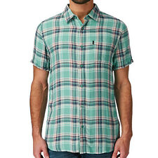 RIP CURL Surf Craft Check Mens Short Sleeve Shirt