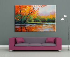 Modern Abstract Art Oil Painting On canvas Wall Deco,FALL DAY(No Frame)