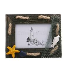 """Wood Picture Frames Beach Theme Photo Frames Table Stand Decoration 3.5 x 4.3"""""""