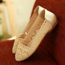 Womens Ballet Flats Loafers Floral Lace Slip-on Shoes Low Heels Slip On Comfort