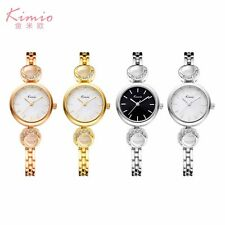 KIMIO Women's Fashion Lady Bracelet Stainless Steel Crystal Quartz Wrist Watch
