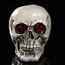 LED Skull Gothic Ornament Figurine Human Skeleton Halloween Cosplay Decor Prop