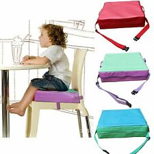 Faux Leather Portable Kids Dining Chair Booster Cushion Soft Baby Booster Seats