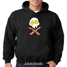 Bacon and Eggs Hoodie Skull Crossbones Pork Lover Breakfast Fat