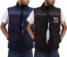 Ecko Mens Boys Gilet Full Zip Up Quilted Padded Sleeveless Body Warmer Jacket AL
