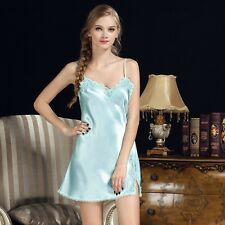 Women Sexy Nightgowns Lace Plus Size Sleep Dress Nightwear Silk Ladies Home Dres