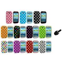 TPU Polka Dot Case Cover Accessory+Mini Stylus for Samsung Galaxy S3 S III i9300