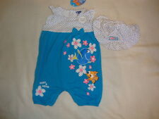 DISNEY NEMO & DORY  2 piece short ROMPER & MATCHING SUN HAT NWTS  18-24 month