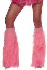 Smiffys Neon Furry Bootcovers Blue Pink Orange Green Fancy Dress Accessory