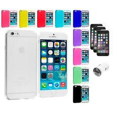 For Apple iPhone 6 (4.7) TPU Case Cover Clear+3X Screen Protector+Car Charger