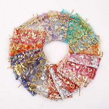 100 PCS Organza Jewelry Candy Gift Pouch Bags Wedding Party Xmas Favors Decor TB
