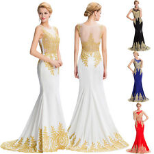 Women Long Prom Evening Ball Gown Formal Bridesmaid Party Cocktail Wedding Dress