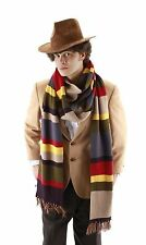 Dr Doctor Who Fourth 4th 12' DELUXE Tom Baker Striped Cosplay Scarf