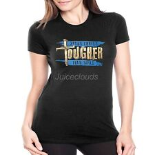 Religious Fitted Shirt Jesus Christ Tougher Than Nails Cross Christian JUNIORS