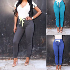 New Sexy Women Casual Skinny Long Pants High Waist Stretch Slim Pencil Trousers