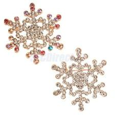 Womens Xmas Snowflake Crystal Wedding Brooch Pin Collar Brooch Jewelry Xmas Gift