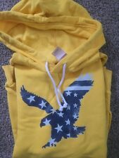 NWT Mens AMERICAN EAGLE Pop-over Hoodie Yellow