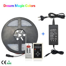 5M WS2811 IC Dream Magic Color RGB 5050 SMD LED  Strip Light Waterproof + Power