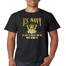 US Navy T Shirt My Job Is To Protect Your Ass Not Kiss It Seal Mens