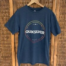 NEW Mens Quiksilver Logo Tee Shirt Blue Large and Extra Large  FREE SHIPPING