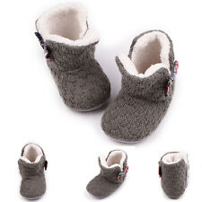 New Toddler Baby Wool Knit Bow Boots Girl Wool Snow Booties Shoes