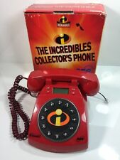 Disney's Pixar The Incredibles Red Collector Phone Telephone SBC Collectible
