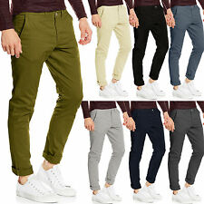 Mens Chino Trousers Slim Fit Stretch Cotton Casual Jeans Stallion Khaki Designer