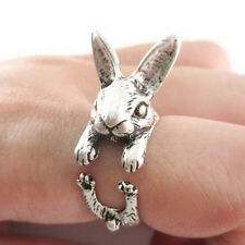 Punk Animal Retro Lovely Rabbit Bunny Midi Finger Opening Knuckle Wrap Ring QW