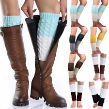 Lady Women School Girl Knitted Calf Leg Warmer Boot Toppers Cuff High Quality