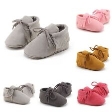 Baby Soft Sole Suede/Leather Shoes Infant Boy Girl Toddler Cute Moccasin 0-18M