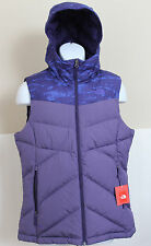 NWT THE NORTH FACE Womens Kailash Hooded 550 Down Vest Garnet Purple M,L,XL $125