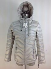 Calvin Klein NWT Light SILVER Hooded  DOWN Lightweight Packable Down Jacket, S