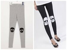 Skull Ankle Length Footless Pantyhose Tights Tregging Tight Pants Holiday Deals