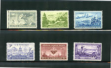 L32  U.S COMMEMORATIVE YEAR SET 1951   6 STAMPS 998 - 1003  MINT NEVER HINGED