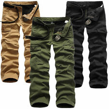 Stylish Men Winter Cotton Combat Fleece Lined Cargo Pant Army Work Trousers Pant