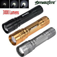 Super Bright CREE XML T6 LED 3000Lm Tactical Flashlight Torch 3 Modes Zoom Lamp
