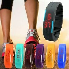 HOT New Ultra Thin Men Girl Silicone Sports Digital LED Wrist Watch WHOLESALE