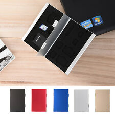 Metal Aluminum Micro SD TF MMC Memory Card Storage Box Protecter Case Holder New
