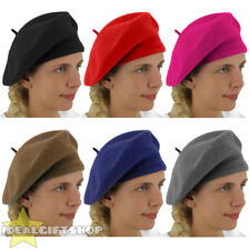 LADIES BERET VINTAGE FRENCH CAP FANCY DRESS COSTUME HAT FRENCH FASHION WARM