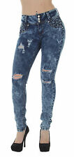 LA8-8A143 – Butt Lift, Levanta Cola, Destroyed, Ripped, Mid Waist, Skinny Jeans