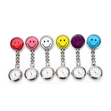 Portable Smile Face Clip-on Nurse Doctor Brooch Pendant Fob Pocket Quartz Watch
