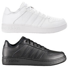 adidas Team Court Low Leather Men's Sneakers Shoes Skate shoes white black new