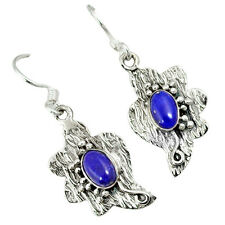 925 sterling silver natural blue lapis dangle earrings jewelry j35070