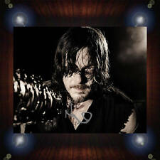 Norman Reedus Walking Dead TV Signed Autographed Framed Photo/Canvas Print