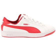Puma Smash Leather White-Red Ladies Trainers Shoes Ladies shoe Leather new